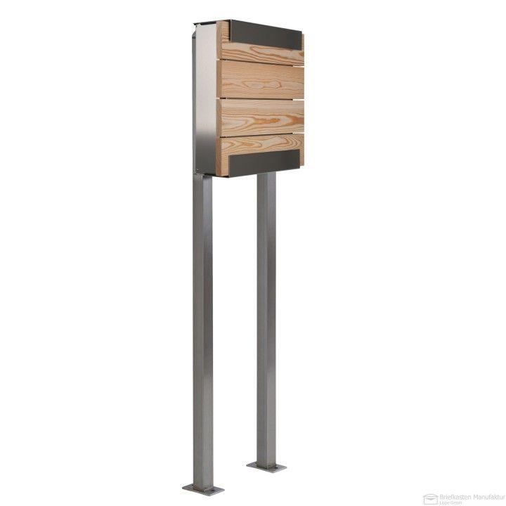 Briefkasten Freistehend Holz ~  larch #briefkasten #briefkasten holz #keilbach #glasnost #wood larch