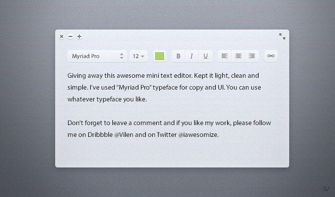 Light Text Editor - 365psd  http://365psd.com/day/3-96/