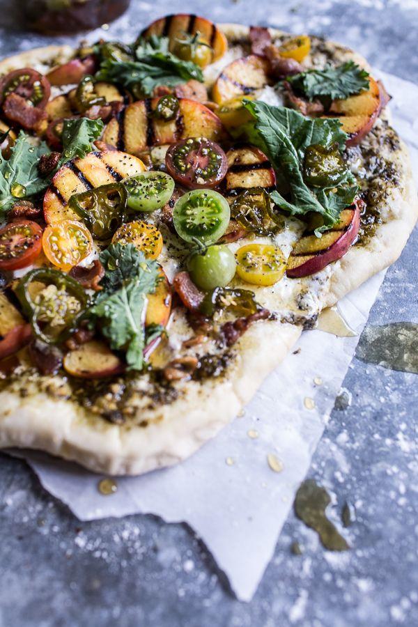 BLT and Grilled Peach Pizza | halfbakedharvest.com @hbharvest
