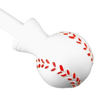 BCL Drapery Hardware Baseball Curtain Rod