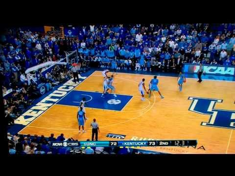 Dec. 3rd 2011. Kentucky, Davis Blocks the shot of UNC for the win of 73 to 72!!! FEAR THE BROW!