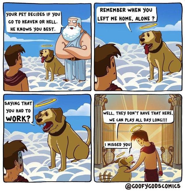 Dogs In Heaven Comic Dog Heaven Funny Comics Dog Comics
