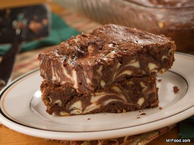 Marbled-Brownie-Bars | mrfood.com (Freezeable!)