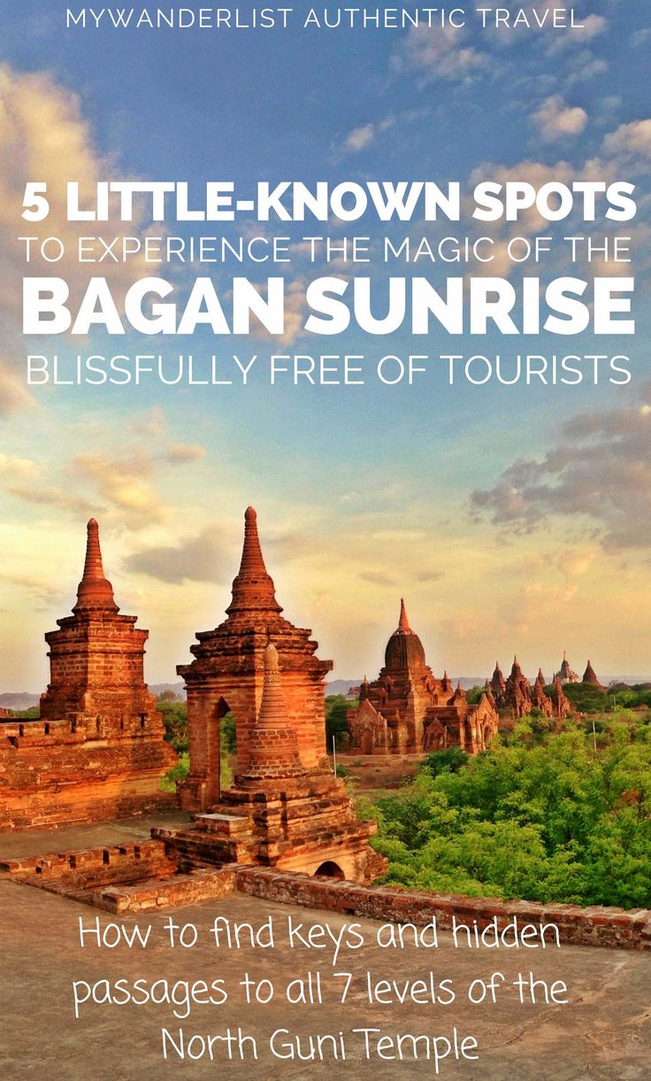 Soak in the Magic of Bagan at Golden Hour the way it was intended: A guide and map to finding the keys and hidden passageways to these little-visited temples.