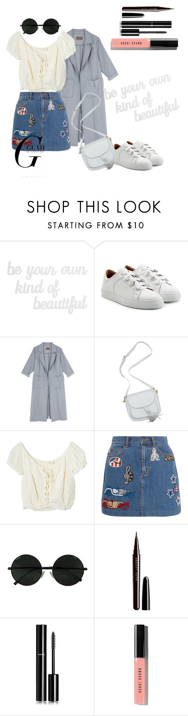 """""""Bright White Sneakers"""" by adelaidefashion ❤ liked on Polyvore featuring PBteen, Carven, Melissa McCarthy Seven7, Jens Pirate Booty, Marc Jacobs, Chanel, Bobbi Brown Cosmetics and plus size clothing"""