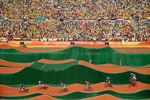Day fourteenMariana Pajon of Colombia wins the women's BMX final in front of thousands of Colombian fans at the X-Park in Deodoro