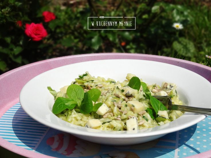 Risotto z cukinią i gorgonzolą