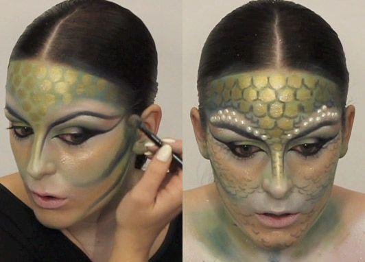making mermaid skin | Halloween make-up tutorial: how to master Illamasqua's washed-up ...