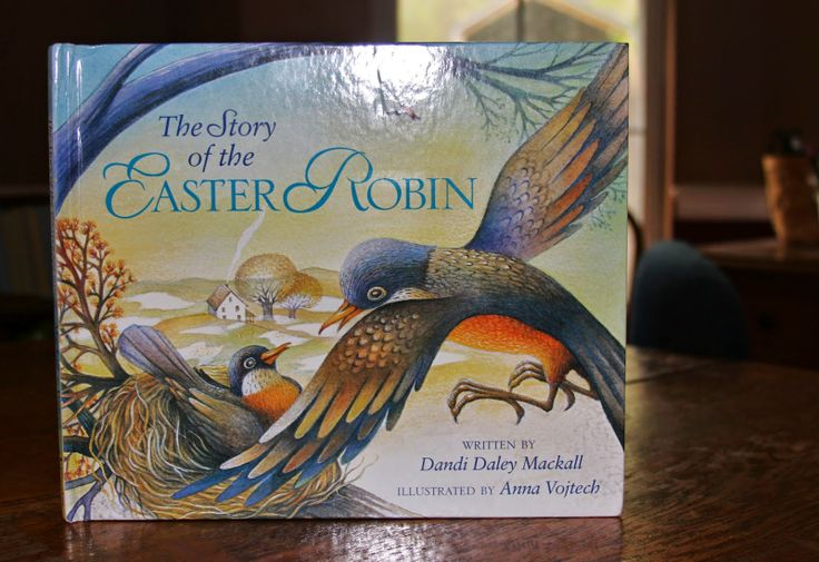 Using the book the Easter Robin to talk about the crown of thorns // perfect for the purple robe activity!