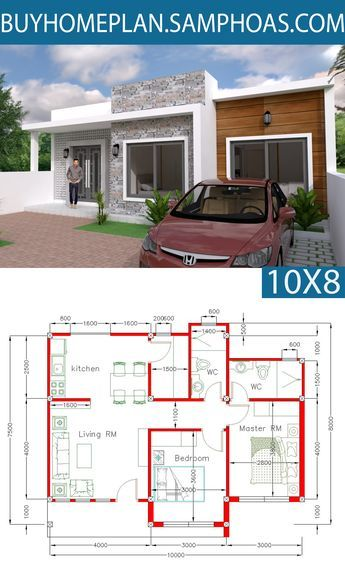 Home Design Plan 6x13m With 5 Bedrooms Architectural Design House Plans Simple House Design Simple House