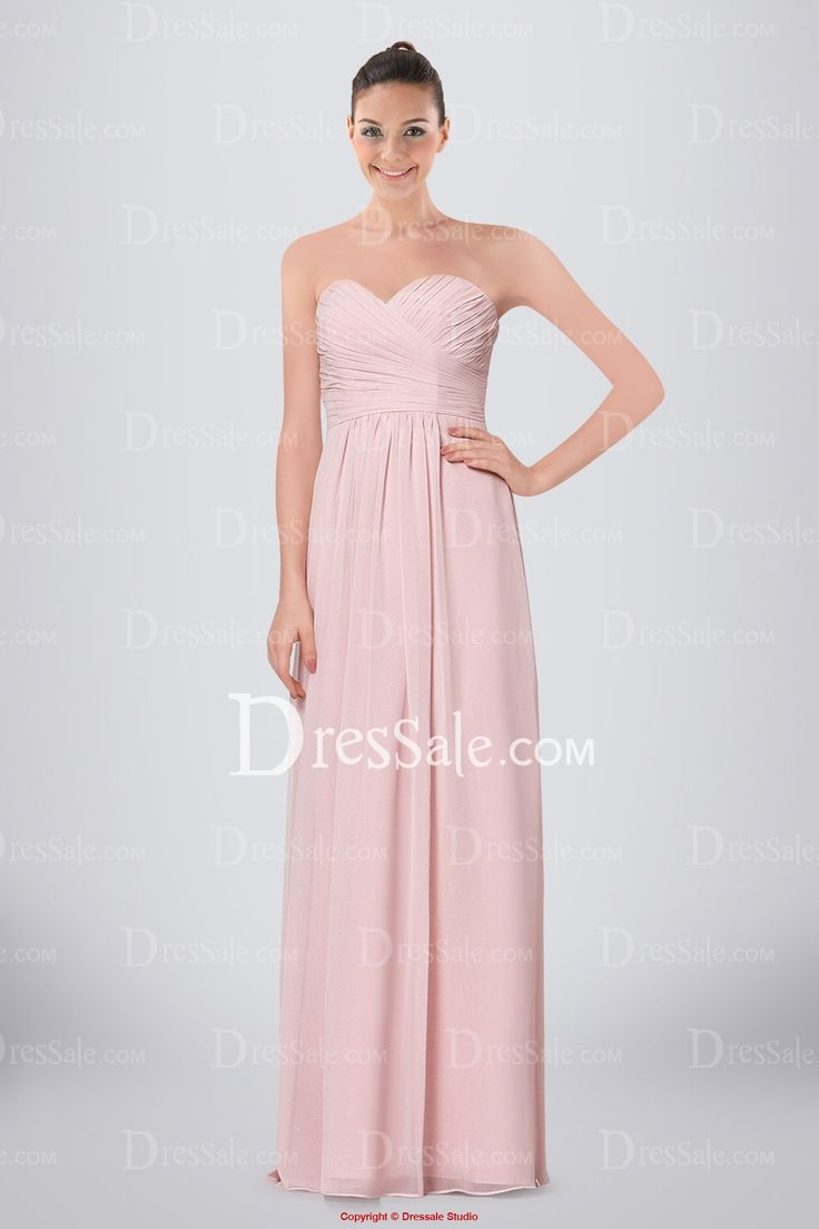 128 best bridesmaid dresses images on pinterest full length a line chiffon sweetheart neckline floor length criss cross bridesmaid dress ombrellifo Image collections