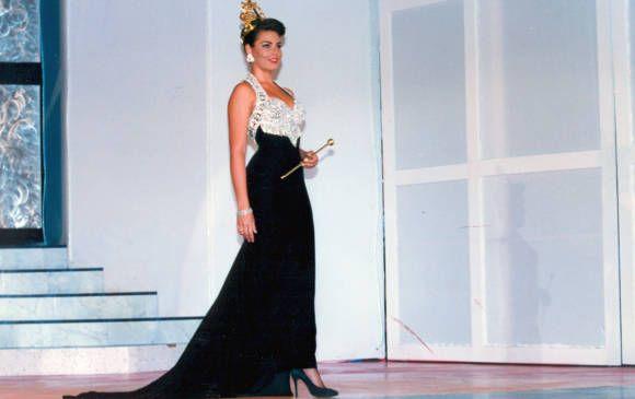Paula Andrea Betancur ganó en 1992 el Concurso Nacional de la Belleza. FOTO Archivo EL COLOMBIANO