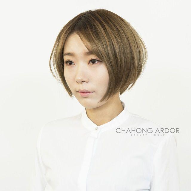 #ash #brown #gold #cut #hairstyle #hair #short #shorthair #bob