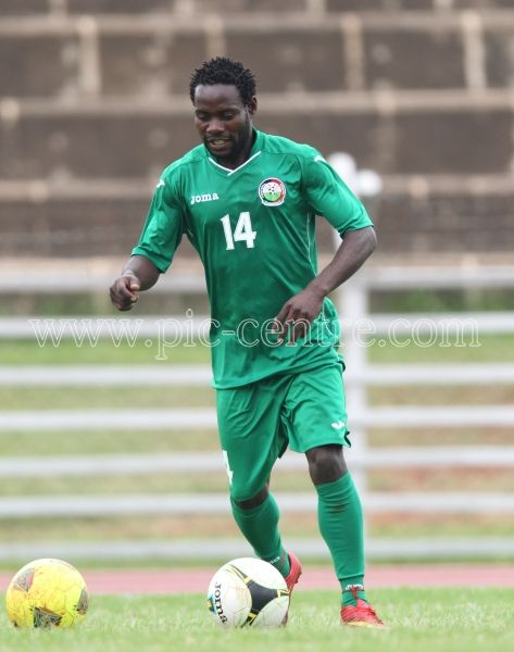 Harambee Stars Geoffery Omusula Kataka during training session at Nyayo National Stadium on May 14, 2014. Stars will play Comoros Island in the 2015 AFCON preliminary match on Sunday at the same venue. Photo/Fredrick Onyango/www.pic-centre.com