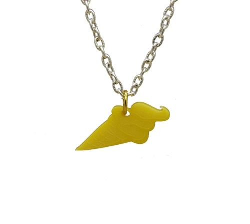 Yummy Scrummy Icecream Charm Necklace made from Perspex A Delicious treat for all Chain length Approximately 16-18 inches Pendants size: approximately 1 inch by 0.5 inch Delivered in plain discreet packaging Comes in a cotton gift pouch