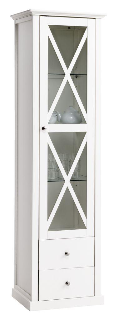 Vitrinskåp HERLEV 1 glasdörr vit | JYSK