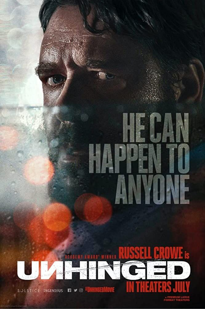 Unhinged (2020) - Poster in 2020 | Russell crowe, Free movies online, Full  movies online free