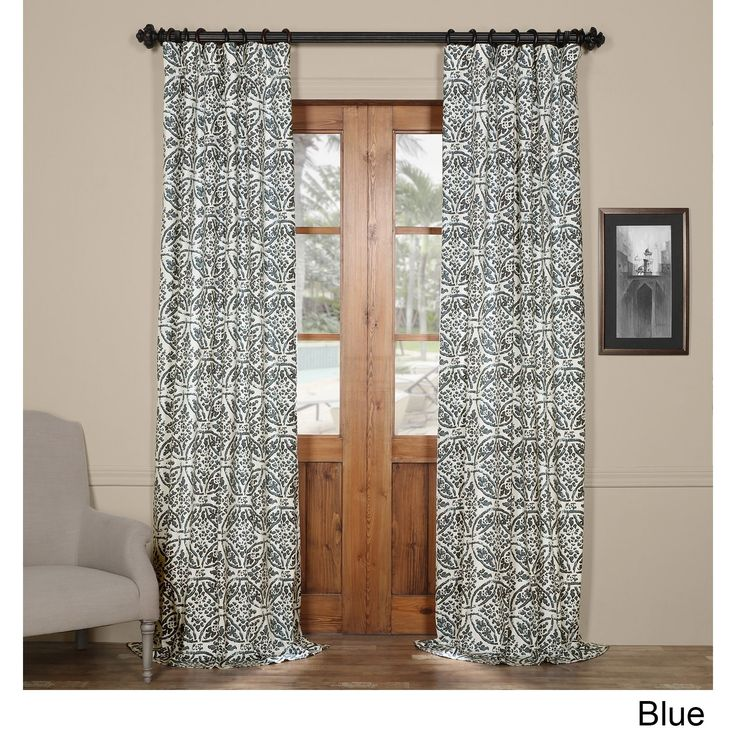 Exclusive Fabrics Catalina 50-inch wide x 84-inch -120-inch long Printed Curtain