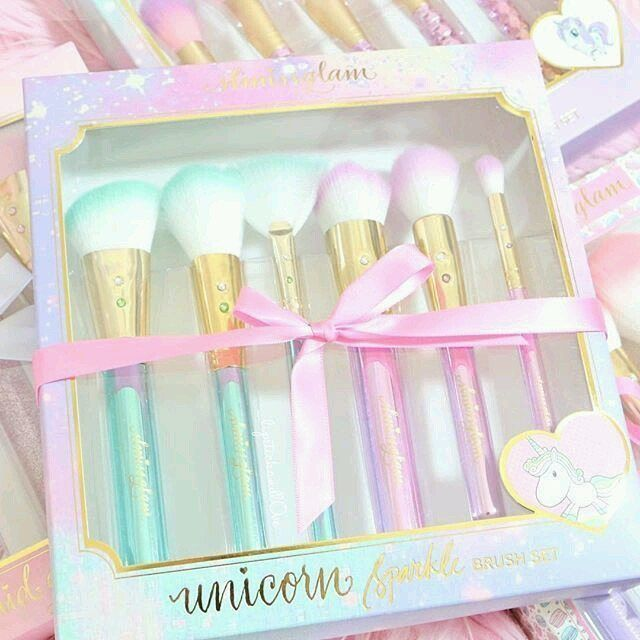 Unicorn Sparkle Glam Brush Set♥