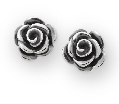 Rose Blossom Ear Posts in Sterling Silver   James Avery