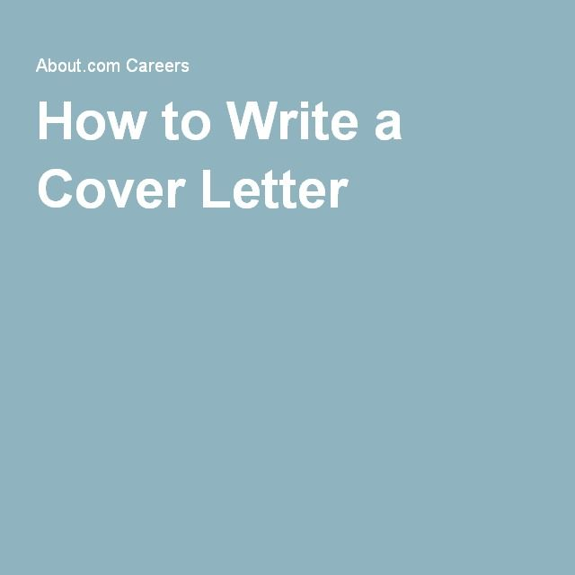 25+ unieke ideeën over Writing a cover letter op Pinterest - writting a cover letter