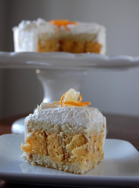 Orange-Pineapple-Vanilla Bean Zebra Torte