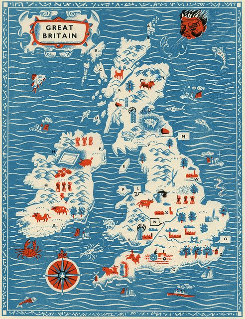 map of Great Britain /1956