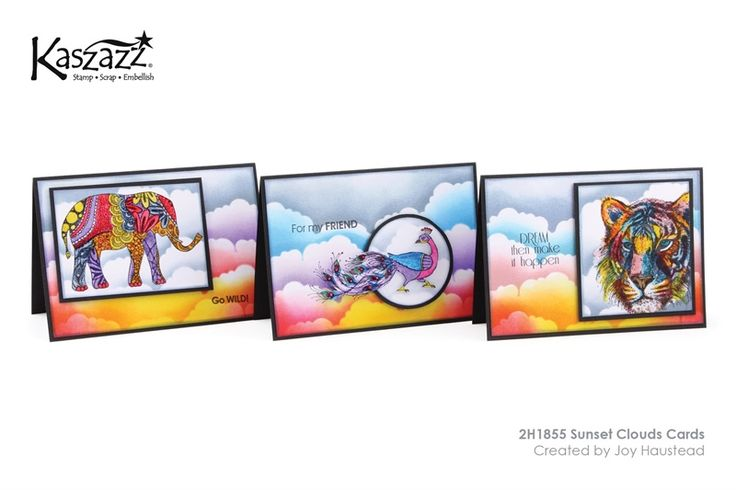 2H1855 Sunset Clouds Cards