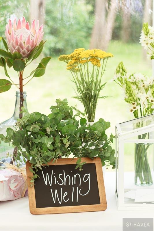 Wishing well.   Styled by St. Hakea sthakea.com