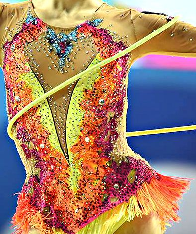 Rhythmic gymnastics leo close-up