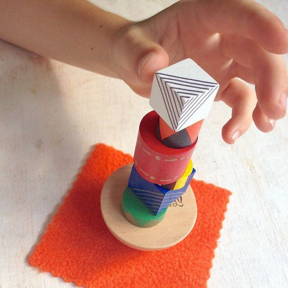 Roll the dice and stack the blocks, but be careful...that wobbly base makes this a tricky game. Who will be the one to knock the tower over? Play alone, or with friends. This is a simple game which is marvellous game for hand-eye coordination and fine motor skill development.