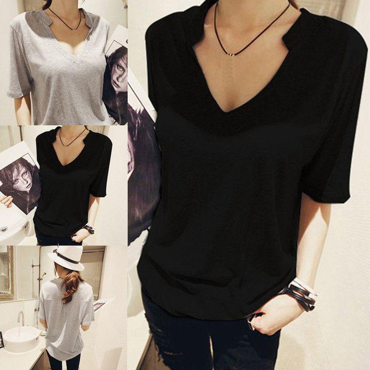 Fashion Women Plus Size Summer Half Sleeve Shirt Casual Blouse Tops T-Shirt