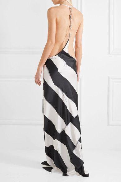 Ann Demeulemeester - Beaded Printed Silk-blend Maxi Dress - White - FR44