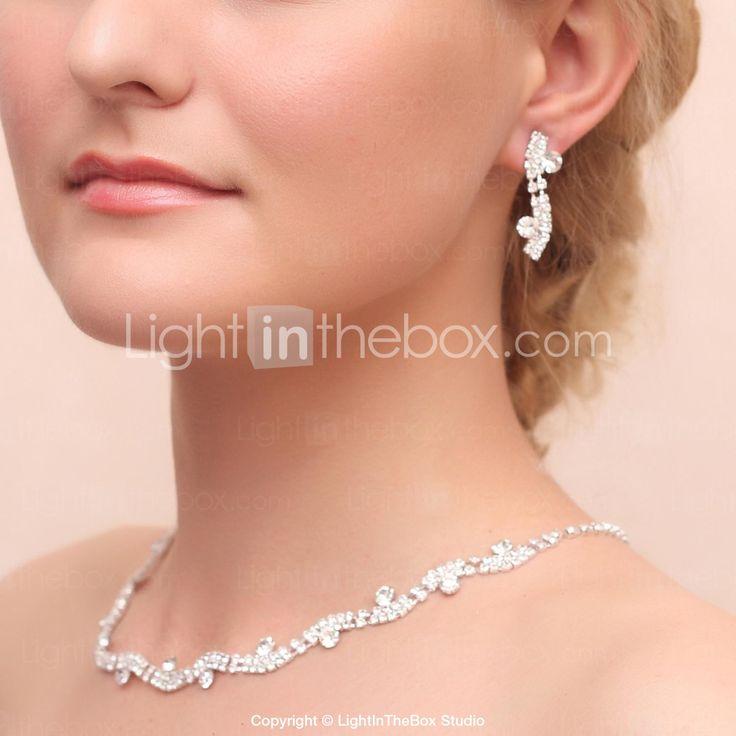 liga lindo casamento strass colar de noiva e brincos conjunto de jóias de 2015 por €13.67