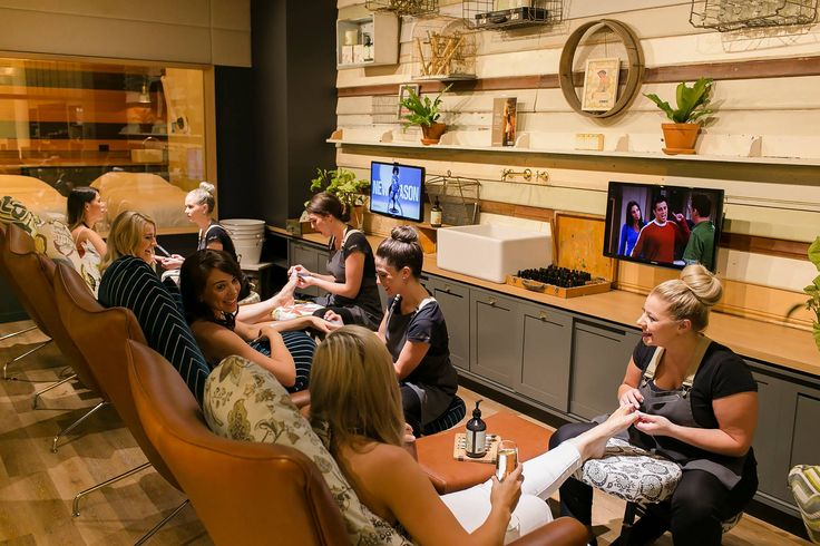 Enjoy a pedicure with a massage while watching your favourite TV show, chatting to friends and sipping a beverage.