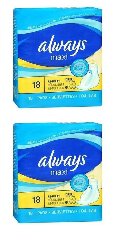wholesale Other Whlsl Personal Care: Always Maxi Pads With Leakguard And Flexi-Wings Regular 18(5 Pack Special) -> BUY IT NOW ONLY: $34.66 on eBay!
