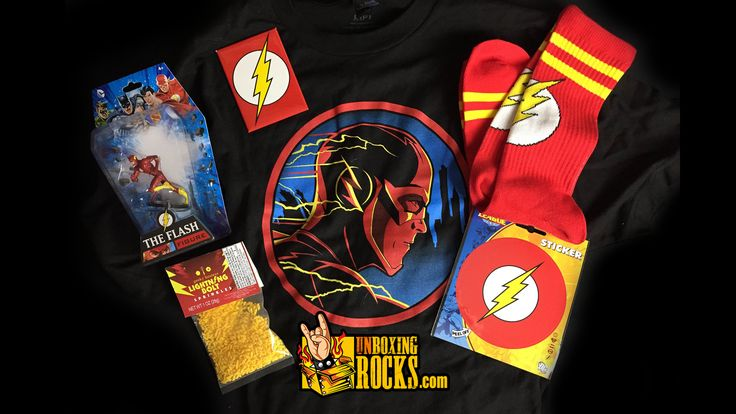 All The Flash Items Inside June, 2015's Hero Crate (The Flash Theme)