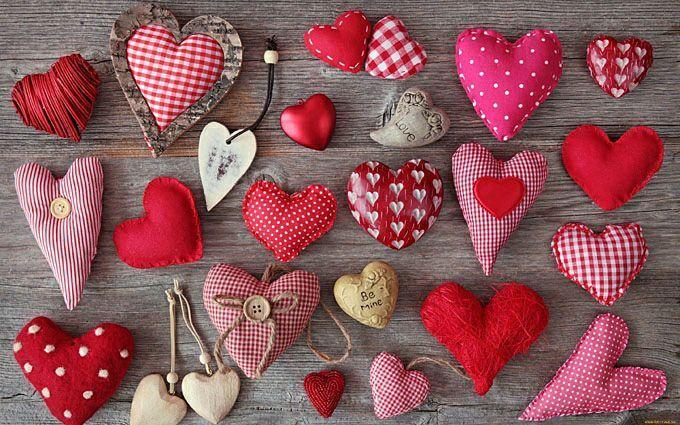Купить Сердечки из ткани - сердечный подарок, сердечки, валентинка, подарок на любой случай