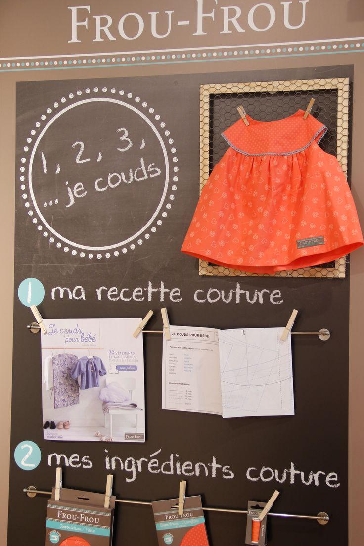 Recette, ingrédients et ustensiles couture Frou-Frou au corner Frou-Frou des Galeries Lafayette