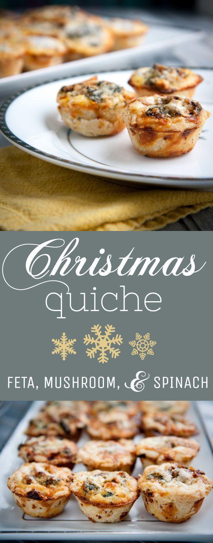 Mini Christmas Quiche Recipe