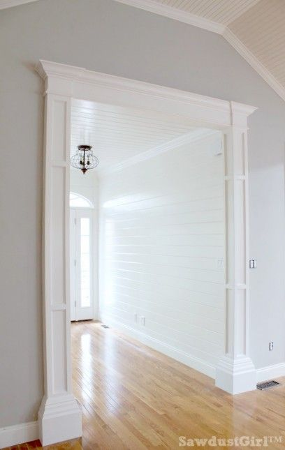 White plank walls in Entry.