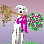 Puppy-love, wie kent dat speciale gevoel nou niet? Illustratie door Hélène Feliz ....lees haar grappige blog op www.hondzijn.nl.....