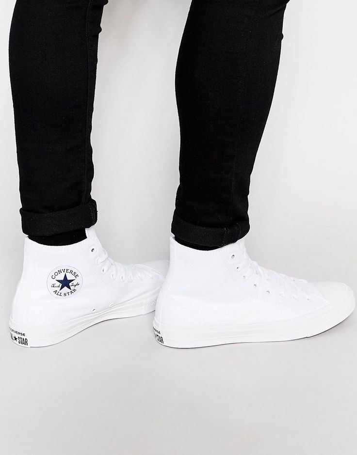 Image 1 of Converse Chuck Taylor All Star II Hi-Top Plimsolls In White…