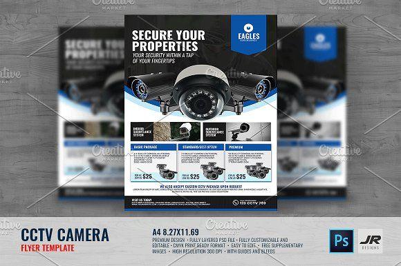 CCTV Camera Shop Flyer by Jovan on @creativemarket | Флаеры