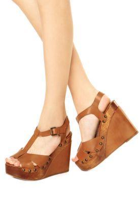 Sandália Plataforma Dafiti Shoes Marrom