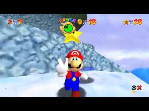 super mario 64 cool cool mountain red coins