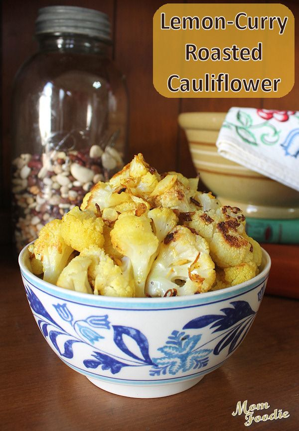 cauliflower curry powder roasted cauliflower cauliflower curry lemon ...