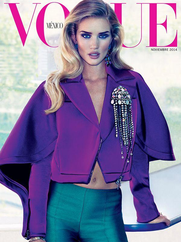 Rosie Huntington en su portada 2/3 para Vogue México. Una edición de excesos y lujo total.