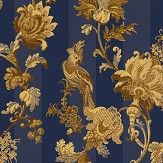 Cole & Son Zerzura Royal Blue / Gold Wallpaper
