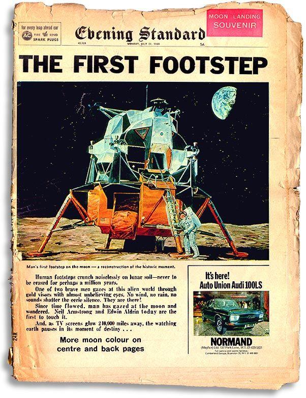 """Evening Standard """"Moon Landing Souvenir"""" issue. July 21st, 1969."""